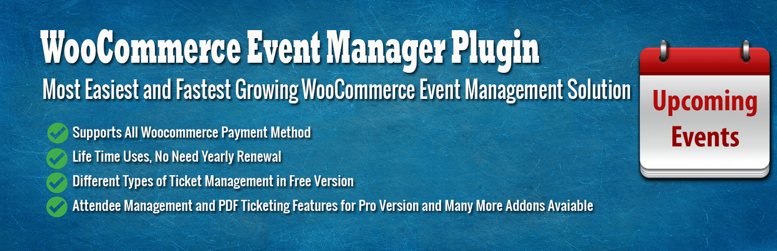 WooCommerce Event Management